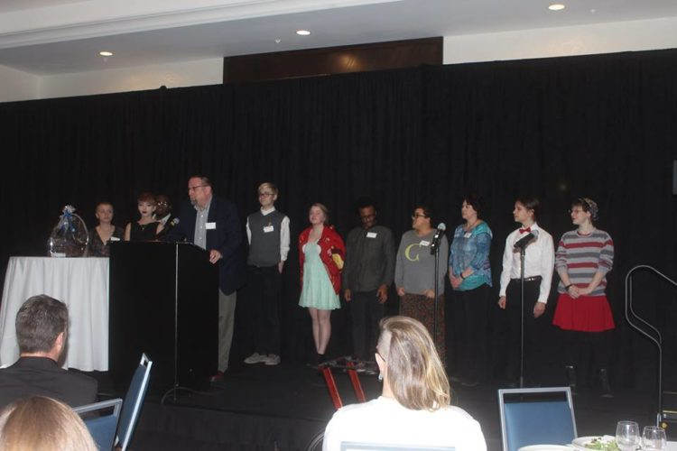 Proud Theater Accepts Organization of the Year Award